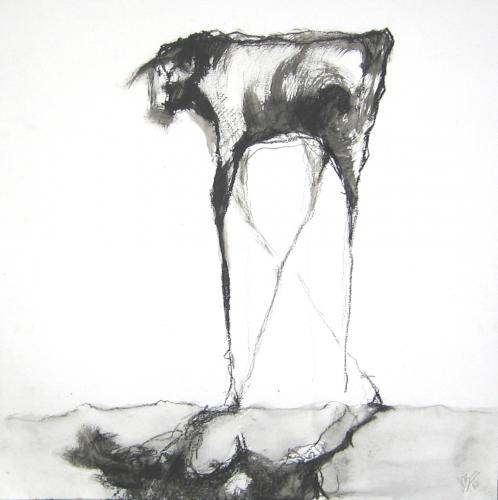 A LA ALTURA DE LA CIRCUNSTANCIA - Tinta sobre papel - 50x50cm