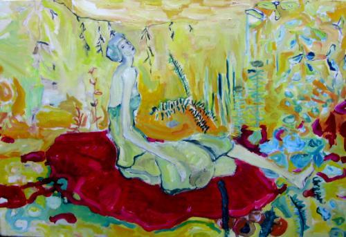 MANTA ROJA - Óleo sobre tela - 70x90 cm