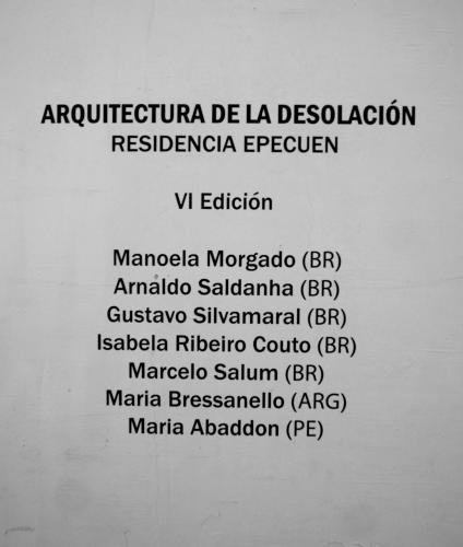 Residencia EPecuen VI Edición