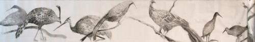 Detalle aves - Tinta sobre papel de arroz