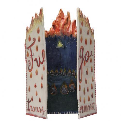 Fuego Transformador - Cerámica Esmaltada- 36x22x2cm