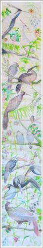 Tinta sobre papel de arroz -  56x45cm